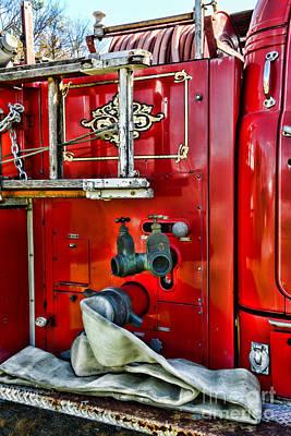 Vintage Fire Truck Art Print by Paul Ward
