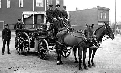Wagon Photograph - Vintage Fire Wagon by Jon Neidert