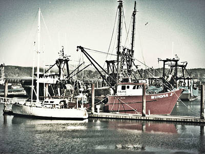 Photograph - Vintage Fishing Boats by Absinthe Art By Michelle LeAnn Scott