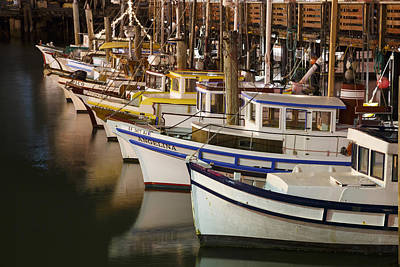Central Coast Photograph - Vintage Fishing Boats by Adam Romanowicz