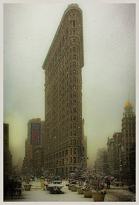 Photograph - Vintage Flatiron In Winter by Chris Lord