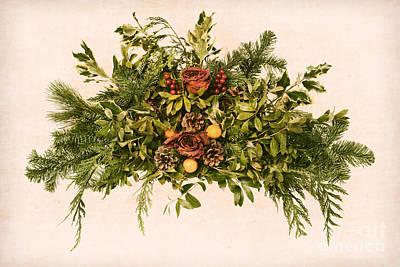 Photograph - Vintage Floral Arrangement by Olivier Le Queinec