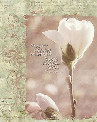 Photograph - Vintage Flower Art - Reflect Your Hopes by Jordan Blackstone
