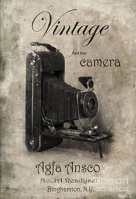 Photograph - Vintage Fold Out Camera by Jill Battaglia