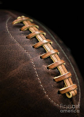 Footballs Closeup Photograph - Vintage Football by Diane Diederich