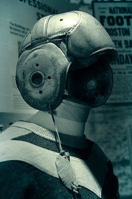 Photograph - Vintage Football Helmet by Mike Martin