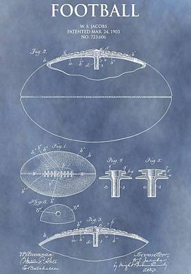Football Mixed Media - Vintage Football Patent by Dan Sproul