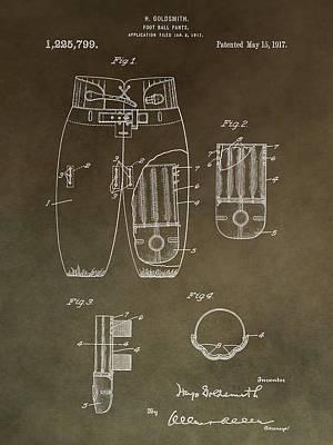 Football Mixed Media - Vintage Football Uniform Patent by Dan Sproul