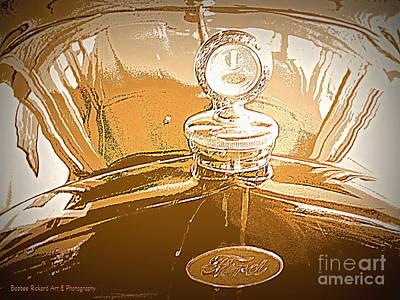 Photograph - Vintage Ford Art by Bobbee Rickard