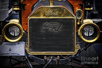 Door Locks And Handles - Vintage Ford Automobile by Les Palenik