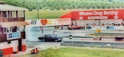 Vintage Ford Drag Racing Print by Thomas  MacPherson Jr