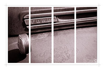 Photograph - Vintage Ford Hood And Fender - Panel Series 1 Of 3 by Lawrence Burry