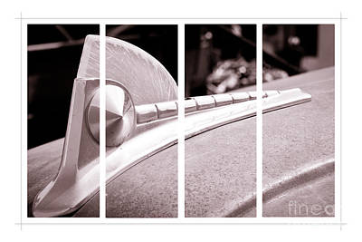 Photograph - Vintage Ford Hood Ornament - Panel Series 2 Of 3 by Lawrence Burry