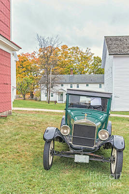 Vintage Ford Model A Car Art Print by Edward Fielding