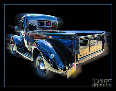 39 Ford Photograph - Vintage Ford Pickup by Tom Griffithe