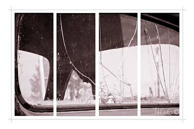 Photograph - Vintage Ford Window - Panel Series 3 Of 3 by Lawrence Burry