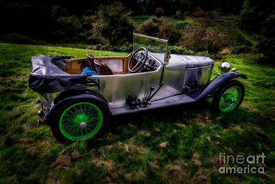 Steering Digital Art - Vintage Frazer Nash by Adrian Evans