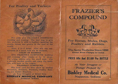 Photograph - Vintage Frazier's Compound Ad II by Tony Grider