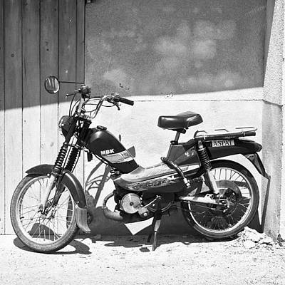 Cycling Wall Art - Photograph - Vintage French Mbk Motorbike by Georgia Fowler