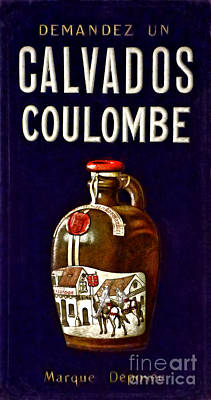 Photograph - Vintage French Poster Calvados Coulombe by Olivier Le Queinec