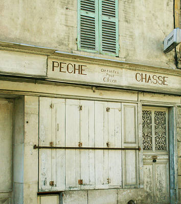 Vintage French Shops Series No.1 Art Print by Georgia Fowler