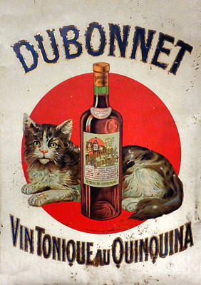 Photograph - Vintage French Tin Sign Dubonnet by Olivier Le Queinec