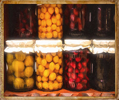 Vintage Fruit And Vegetable Preserves II Art Print by Georgiana Romanovna