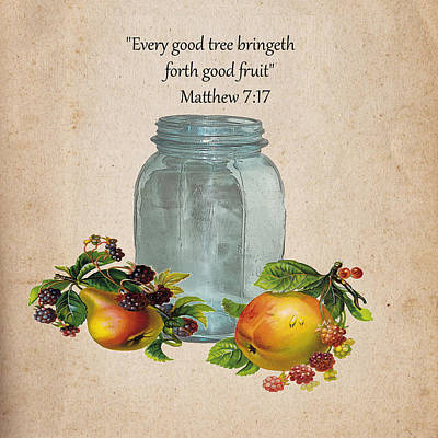 Digital Art - Vintage Fruit Jar by TnBackroadsPhotos