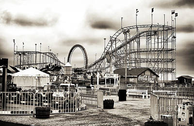 Seaside Heights Photograph - Vintage Funtown by John Rizzuto