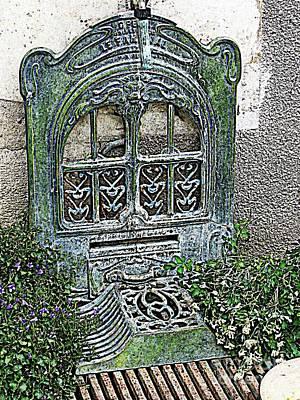 Photograph - Vintage Garden Grate by HEVi FineArt