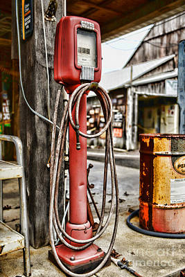 Art Dealer Photograph - Vintage Gas Station Air Pump 3 by Paul Ward