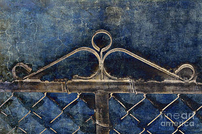 Chain Mixed Media - Vintage Gate - Fence - Chain Link - Texture - Abstract by Andee Design