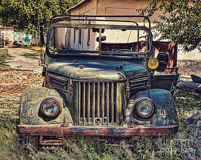 Gaz Photograph - Vintage Gaz Jeep by Emily Kay