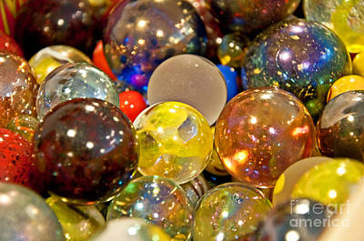 Vintage Glass Marbles Art Print