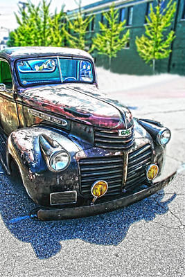 Photograph - Vintage Gm Truck Frontal Hdr by Lesa Fine