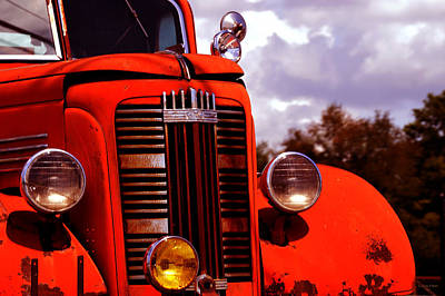 Tree Photograph - Vintage Gmc Fire Truck  by Lesa Fine