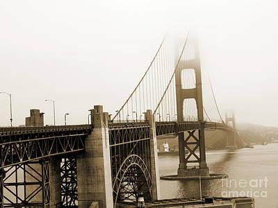 Photograph - Vintage Golden Gate by Brenda Kean
