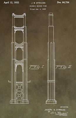 Vintage Golden Gate Bridge Patent Art Print