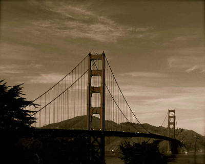 Photograph - Vintage Golden Gate by Kandy Hurley