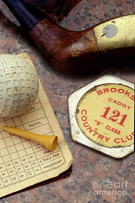 Vintage Golf Print by Jon Neidert