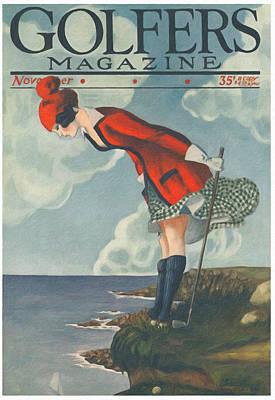 Sports Bar Decor Painting - Vintage Golf Nine by Big 88 Artworks