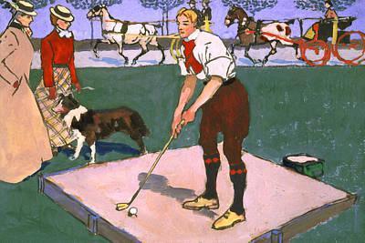 Sports Bar Decor Painting - Vintage Golf One by Big 88 Artworks