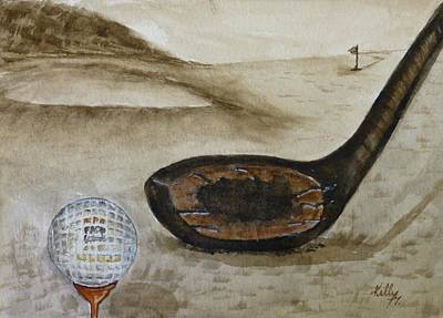 Old Man Painting - Vintage Golfing In The Early 1900s by Kelly Mills