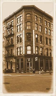 Crosswalk Photograph - Vintage Grand Rapids Michigan Ionia by Dan Sproul