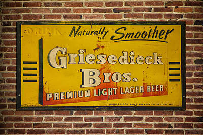 Photograph - Vintage Griesedieck Bros Beer Dsc07192 by Greg Kluempers