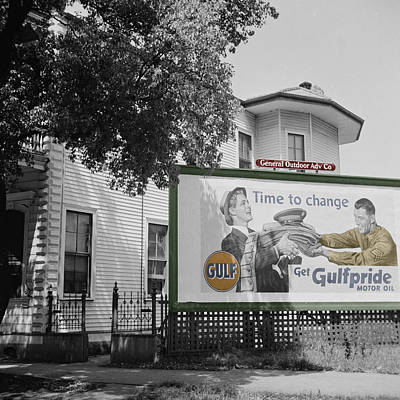 Photograph - Vintage Gulf Oil Billboard by Andrew Fare