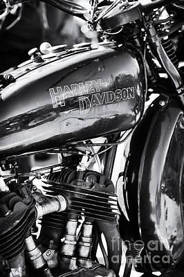 Vintage Harley Monochrome Art Print by Tim Gainey