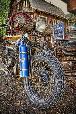 Photograph - Vintage Harley With Nos by Ken Smith