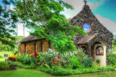 Photograph - Vintage Hawaiian Church by Sarah Schroder
