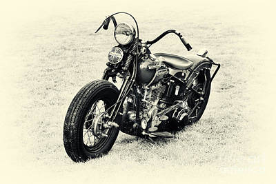 Harley Davidson Photograph - Vintage Hd Panhead by Tim Gainey